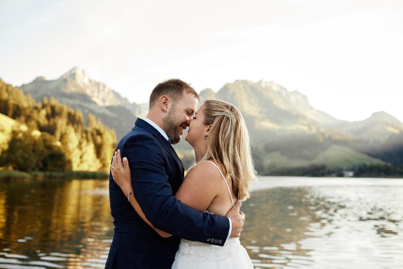 photo mariage coucher de soleil