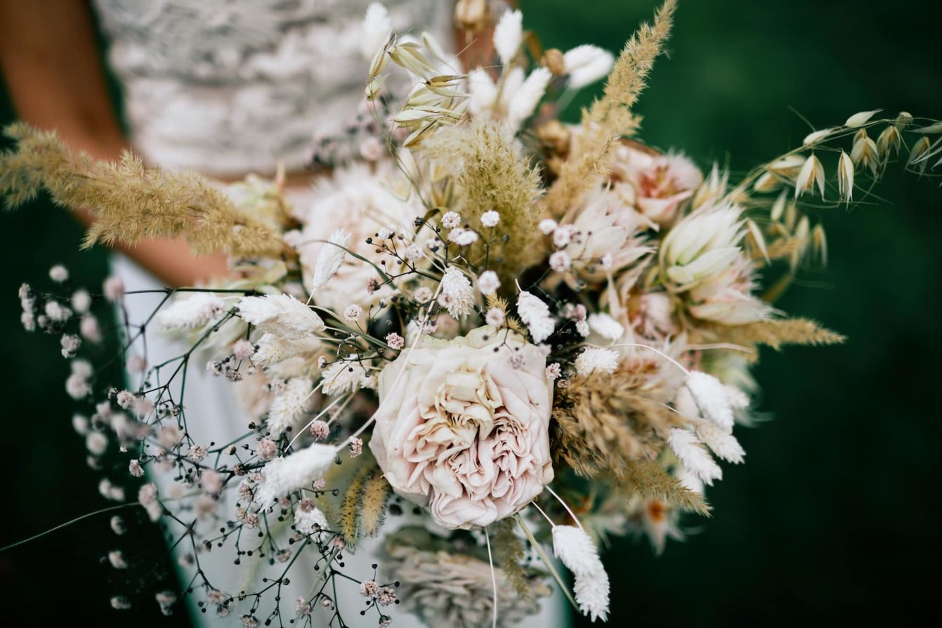Bouquet mariage Asclepiade Bulle