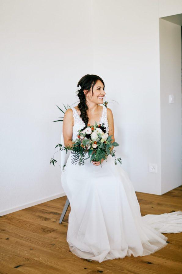 Portrait de la mariée seule