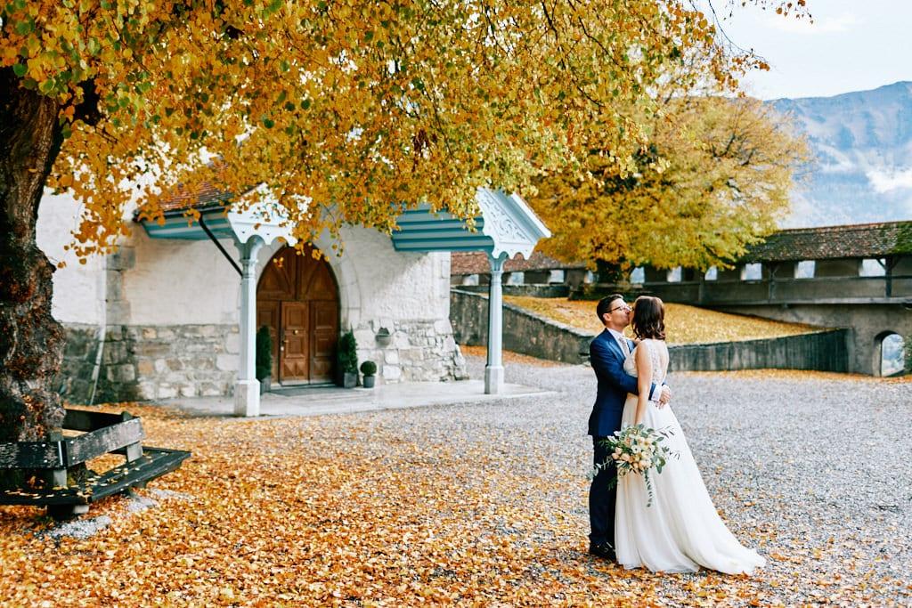 Mariage automnale en Suisse