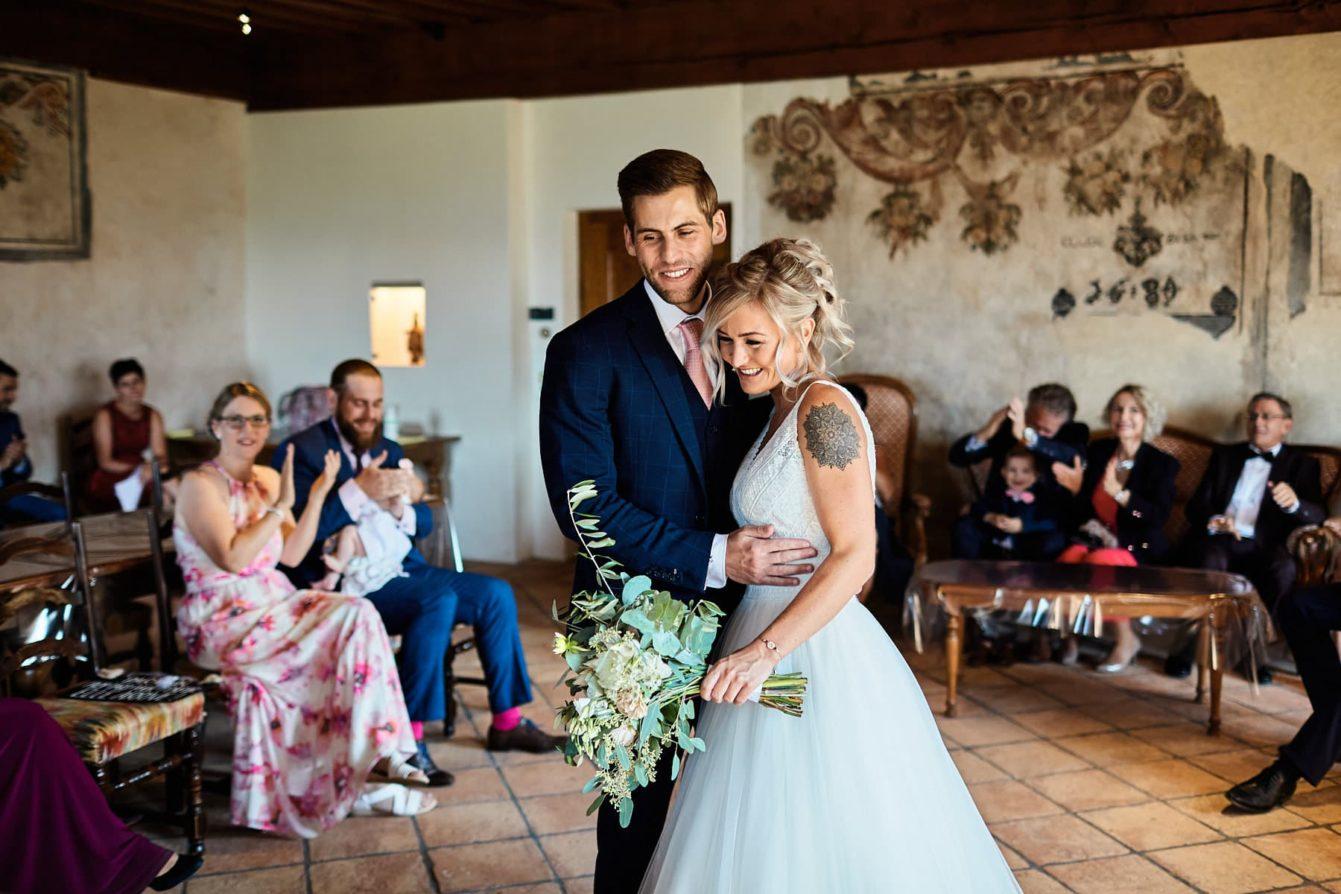 Mariage civil à Gruyère,