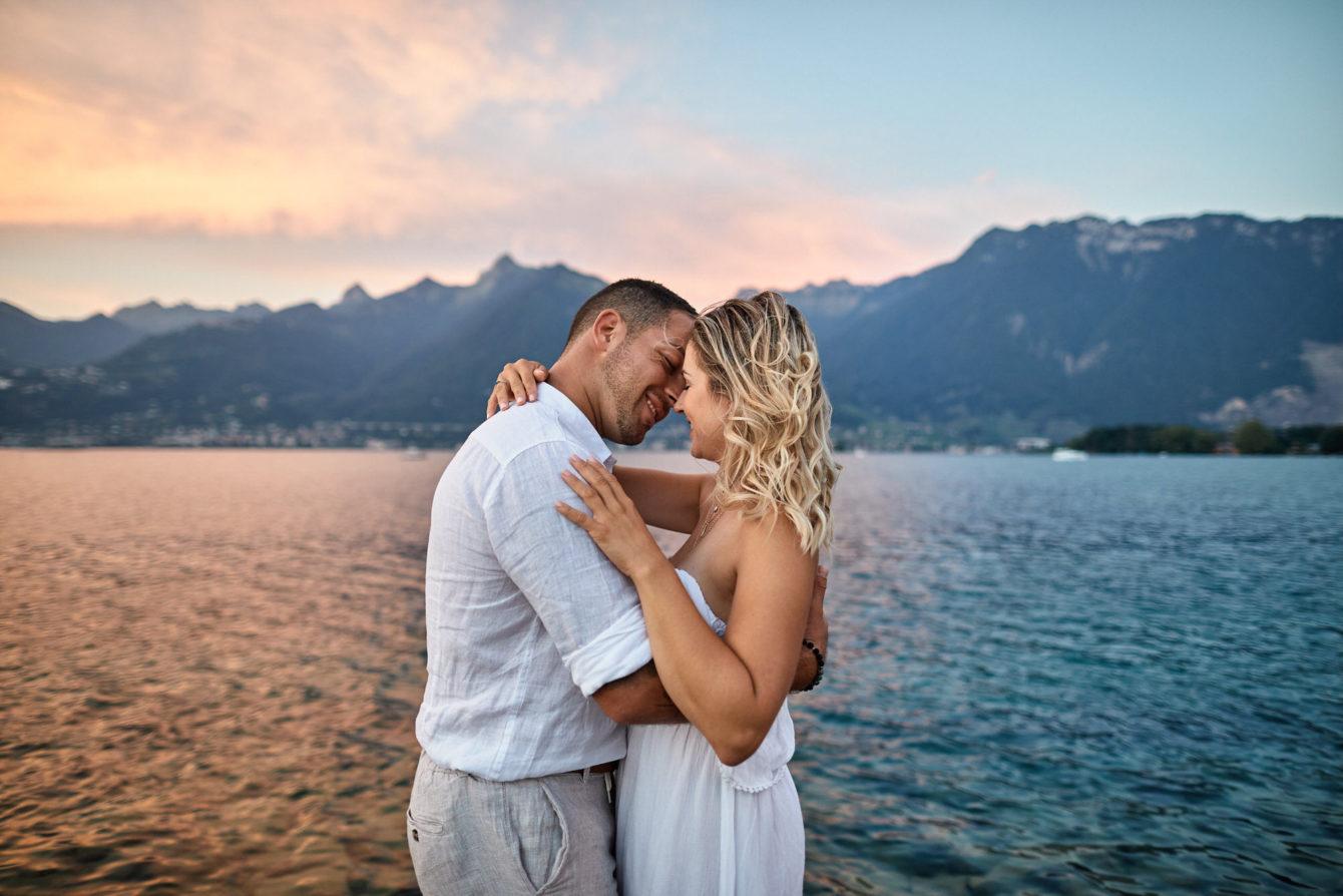 séance photo couple bord du lac